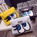 2016 bag ladies handbags Crocodile women bag  sweet clutch lock messenger bags sequins bolsa SpongeBob kil famous brands