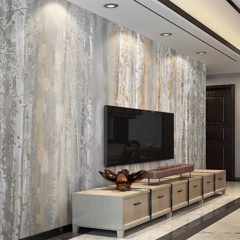 Personalizado foto papel de parede 3d textura madeira floresta pintura a óleo estilo murais sala estar quarto fundo papéis para paredes 3 d