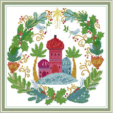 Joy Sunday,Castle,cross stitch embroidery set,printing cloth embroidery kit,needlework, embroidery kit,Chinese cross stitch kit joy sunday magnolia flower cross stitch embroidery set printing cloth embroidery kit needlework flowers picture cross stitch kit