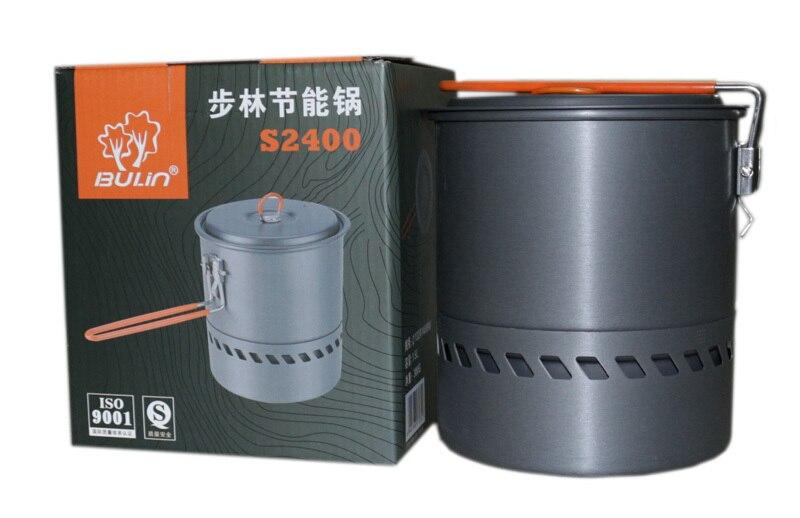 Bulin Intercambiador de Calor Portátil Al Aire Libre 1.5L Hervidor de Agua Pot P