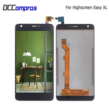цена на For Highscreen Easy XL LCD Display Touch Screen Digitizer For Highscreen Easy XL Display Screen LCD Phone Parts Free Tools