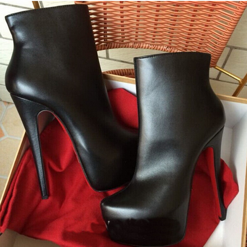 huge selection of 24fe9 3a09b Brand Women Ankle Boots Winter Platform Boots Red Bottom ...