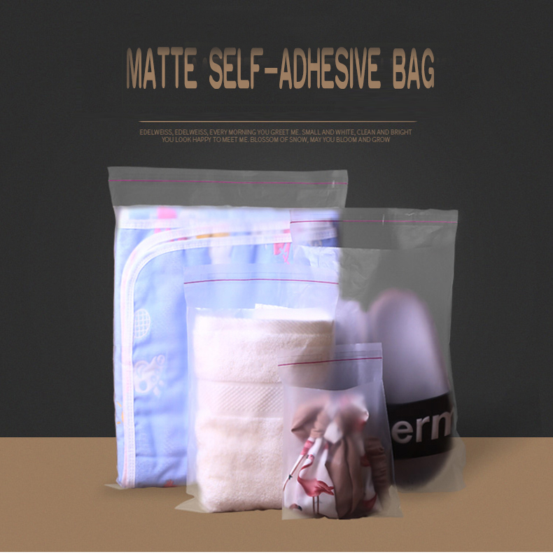1 pe,Scrub,Matte,Frosted ,packaging,storage,self-adhesive bag,seal,cosmetics,mask paper,magazine,book,jewelry,towel,socks,panties,underwear,card,clothes,hat,shoes (1) -