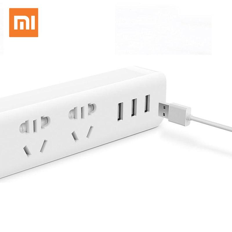 XIAOMI USB Electrical Power Socket Plug With 3 USB Extension Socket Plug Multifunctional Smart Power Strip