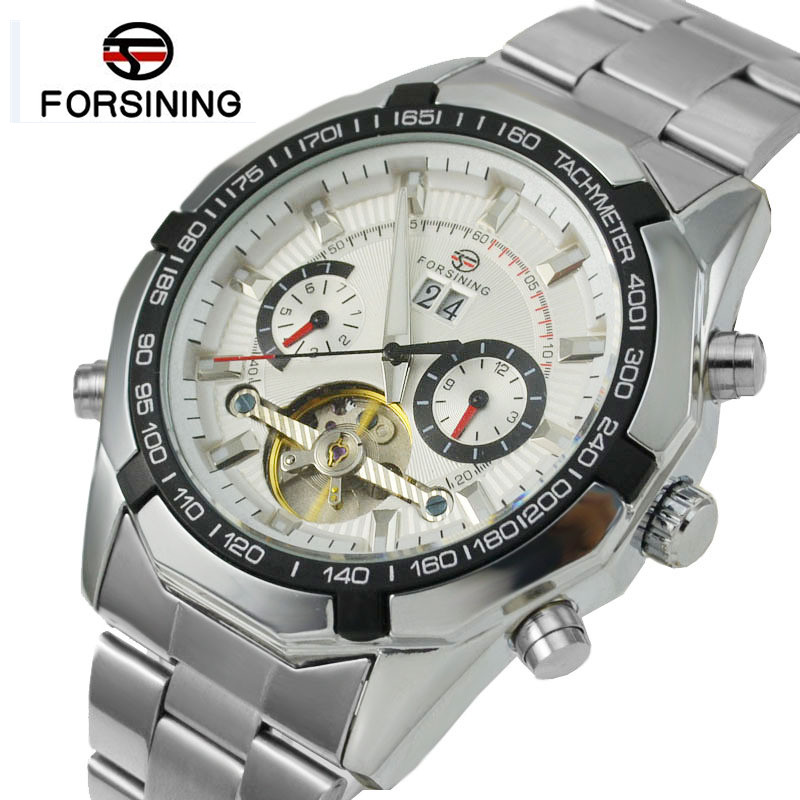 FORSINING Men Watches Tourbillon Clock Men Automatic Watch Skeleton Military Watch Mechanical Relogio Male Erkek Saat