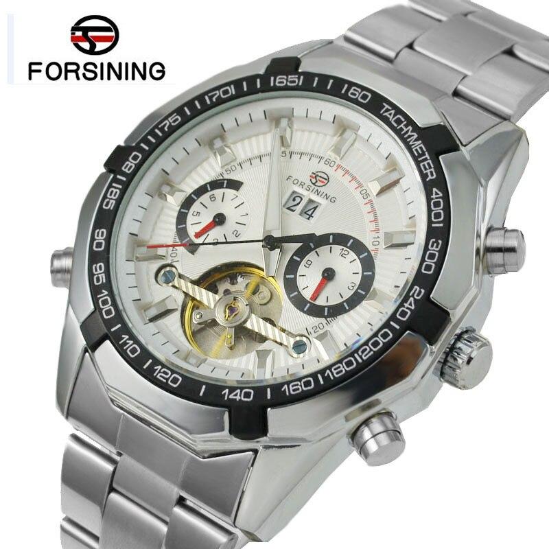 FORSINING Men Watches Tourbillon Clock Men Automatic Watch Skeleton Military Watch Mechanical Relogio Male Erkek Saat