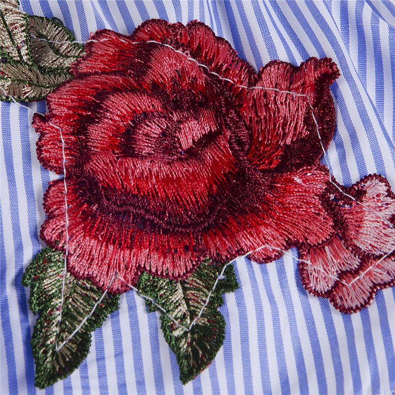 S Manches Bleu Femmes High Casual Street Floral Blouse gris De Dames Lâche xl Chemise Mode Épaule Drop Tops Shirts Ruches D'été Court rqBrw6R