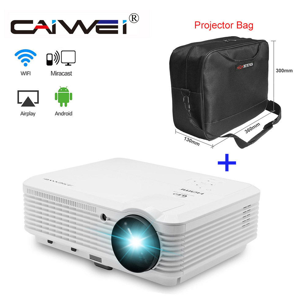 CAIWEI Hot Sale 1080p WiFi Projector TV Full HD 4200 Lm LCD Beamer Projector Android Led Video for Home Theater Movie thinyou smart android wifi projector 1280 800 full hd led lamp lcd projector for home theater meeting hdmi vga usb av beamer
