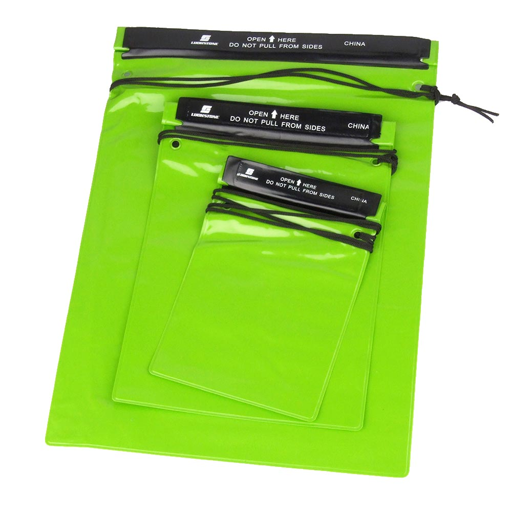 Portable Waterproof Bag Pouches 3Pcs/Set Green Waterproof Storage Bag for Outdoor Sports Swimming Hiking Camping Water Bag-in Water Bags from Sports & Entertainment