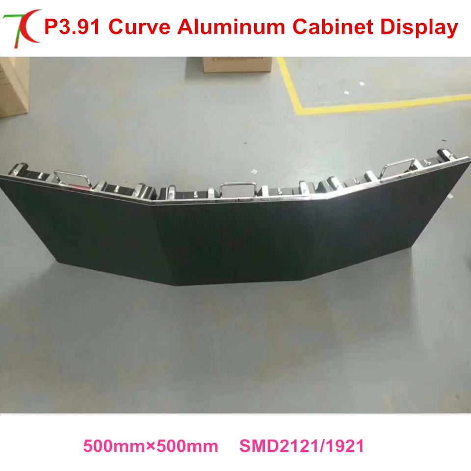 China Facory Sales Curve Led Screen  P3.91 Indoor Full Color Die-casting Aluminum Cabinet Rental Display