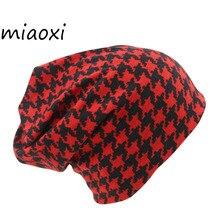 miaoxi Fashion 2 Used Striped Women Hat Scarf Cotton Winter Warm High Quality Female Cap Knit
