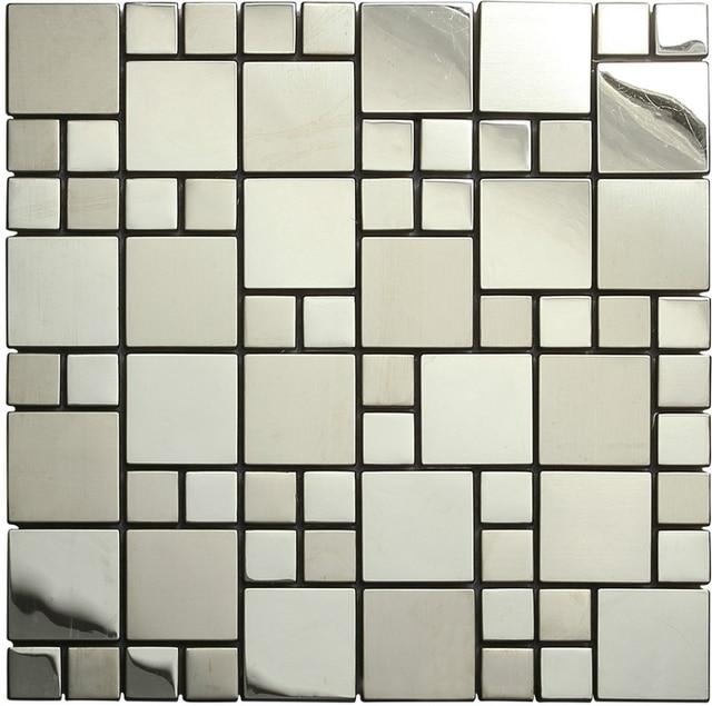 In acciaio inox metallo tessere di mosaico per piastrelle mosaico ...
