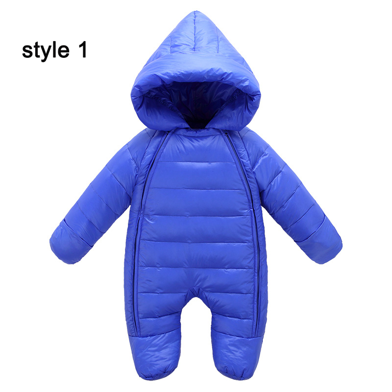 Yihuang warm children winter jumpsuit for boys solid baby girl winter romper hooded down winter romper infant overalls newborn puseky 2017 infant romper baby boys girls jumpsuit newborn bebe clothing hooded toddler baby clothes cute panda romper costumes