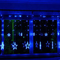 Colorful Decoration Lamp 138 LED lamp 2m Star LED Curtain String Light,8 Flashing Modes with Memory, Used For Wedding IY310109