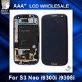 Para samsung galaxy s3 neo i9300i i9301 i9301i i9308i replcement lcd telefone toque digitador da tela com a montagem do quadro