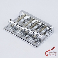 1 Set GuitarFamily Bass Bridge For 4 Strings Electric Bass Chrome 0981 MADE IN