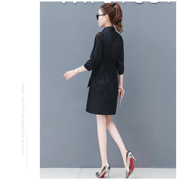 Dress female spring and autumn 2019 new fashion commuter slim strapless denim dress tide vestido Q280 25
