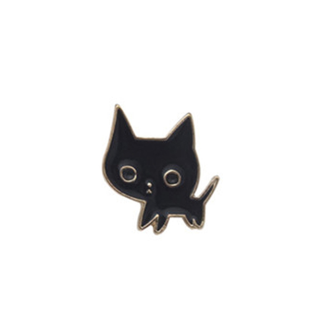 Alloy Enamel Pink Wine Glass Cup Bottle Hand Rose Cat Broche Badges Lapel Pins Safe Brooche Scarf Women Gifts New Trend
