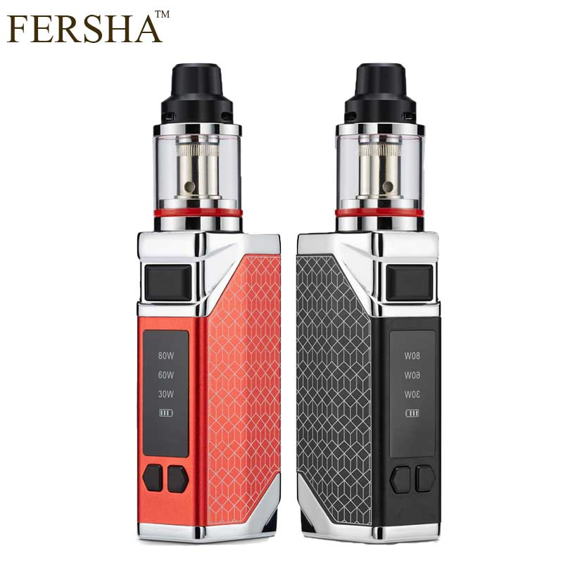 FERSHA 80W Super smoke electronic cigarette Hookah vape kit 2200 mAh battery mod 2.8ml airflow adjustable atomizer Hookah vaper