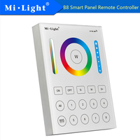 MIlight B8 8 Zone Smart Panel Remote Controller 3V(2*AAA Battery) 30A Wireless 2.4GHz LED Bulb Controller