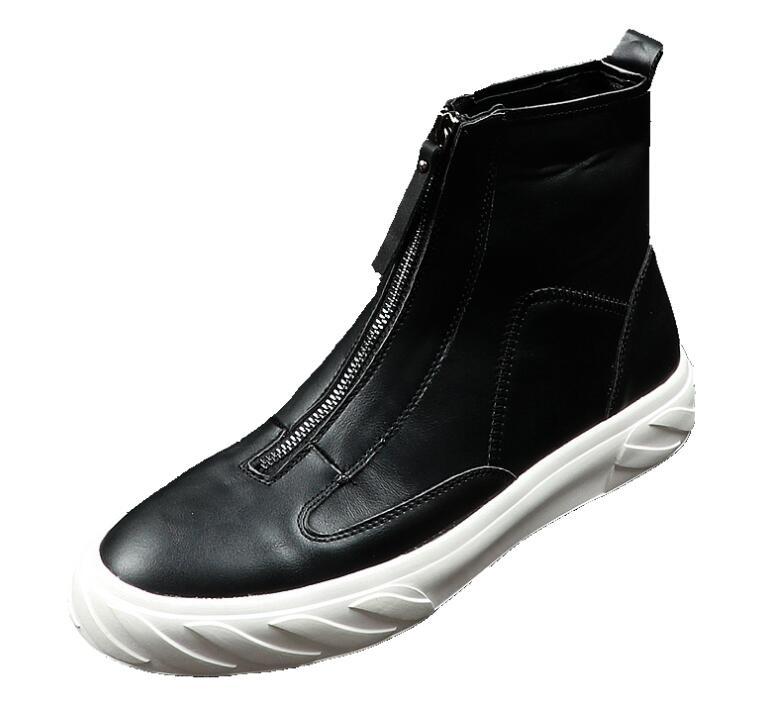 Luxo Britânico Branco Top Qualidade De Sapatos Borracha Brancos Estilo Preto Causal Alta Para Masculino Da Mocassins Preto Dos branco Homens Fundo Moda Mens 8F6wFaq