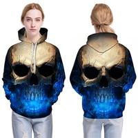 Skull Headr Men Hoodies Sweatshirts 3D Printed Funny Hip HOP Hoodies Novelty Streetwear Hooded Autumn Tracksuits