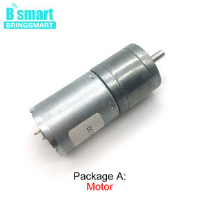 Bringsmart JGA25-370 Gear Motor 12v DC Low Rpm Robot High Torque Micro 6v Brush Motor 12 Volt 24v DC Robot Reducter(China)