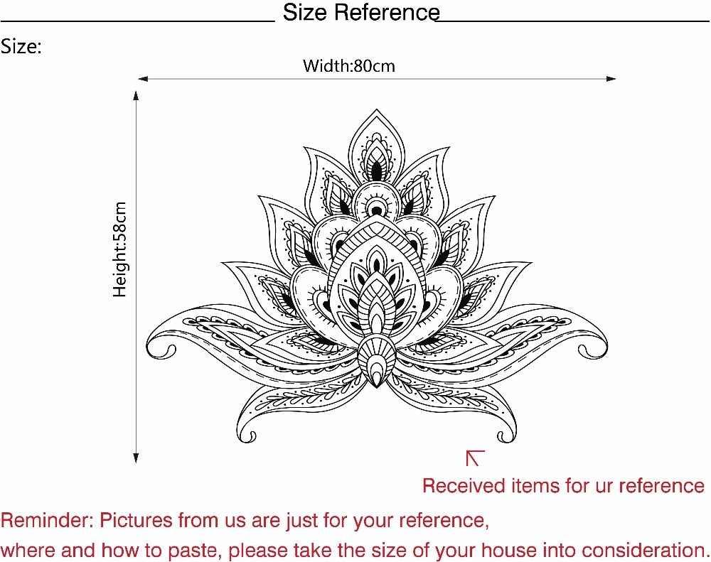 Творческий лотоса Boho плакат Богемия Индия Богемия Яга стены Мандала Цветок кровати изголовья винил Стикеры Гостиная Home Decor