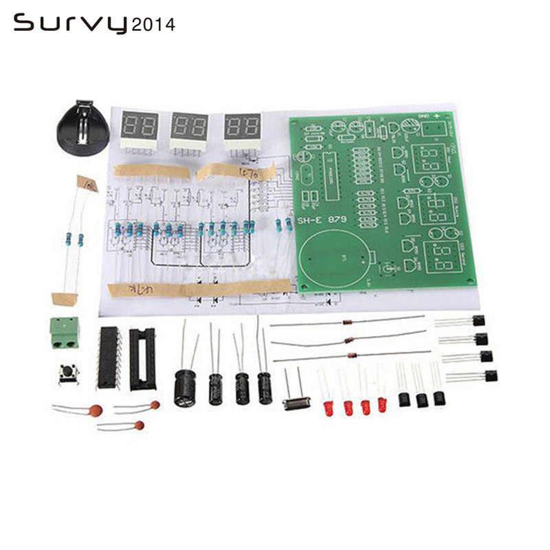AT89C2051/DS3231 Kỹ Thuật Số 4/6 Bits Điện Tử Đồng Hồ Điện Tử Sản Xuất Bộ Kit TỰ LÀM