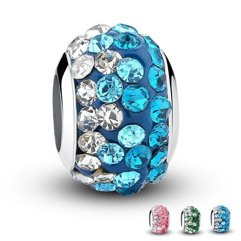 2018 exquis grand trou gradient cristal perlé diy bijoux accessoires PDLC1