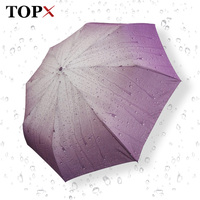 Creative Raindrops Pattern Umbrella Rain Women Windproof Travel Umbrella Automatic Folding Umbrellas For Girl Lady Parasol