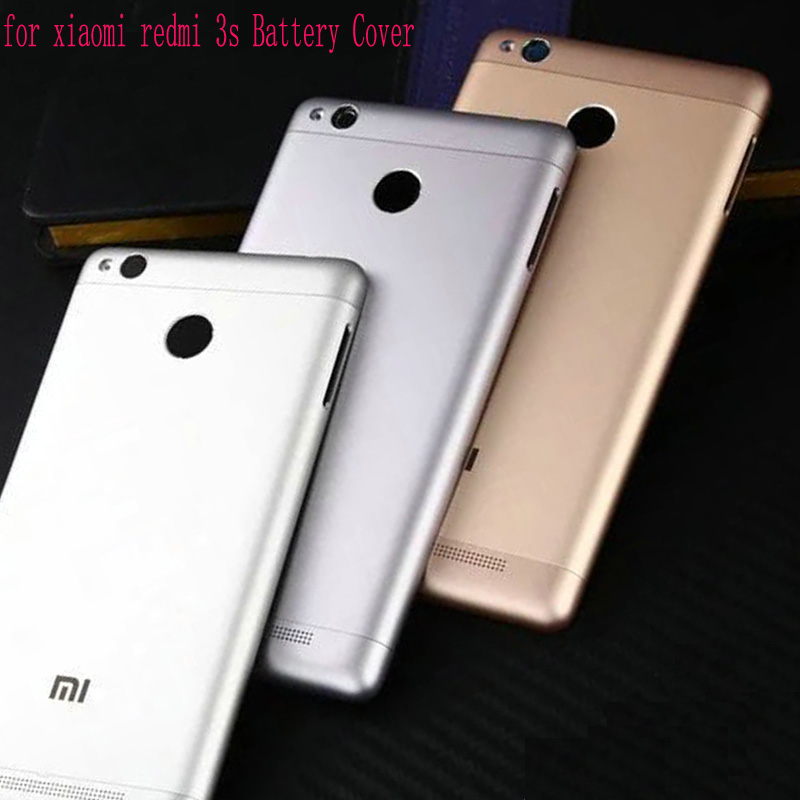 New Housing for Xiaomi <font><b>Redmi</b></font> <font><b>3s</b></font> Door Housing + Side Buttons + Camera Flash Lens Replacement for <font><b>Redmi</b></font> 3 pro <font><b>Battery</b></font> <font><b>cover</b></font> image
