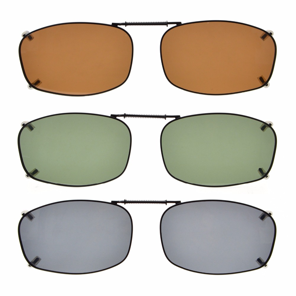 cca64e0cc8 C68 Mix Eyekepper Grey Brown G15 Lens 3-pack Clip-on Polarized Sunglasses  54 34MM