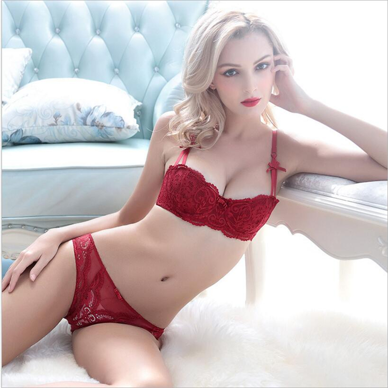 Hot 2017 Young Girl Cup Lace Thin Married Sexy Underwear Cup Bra Set Bra White Black Red Bra Set Sexy Bra Set Free Send In Bra Brief Sets From Underwear