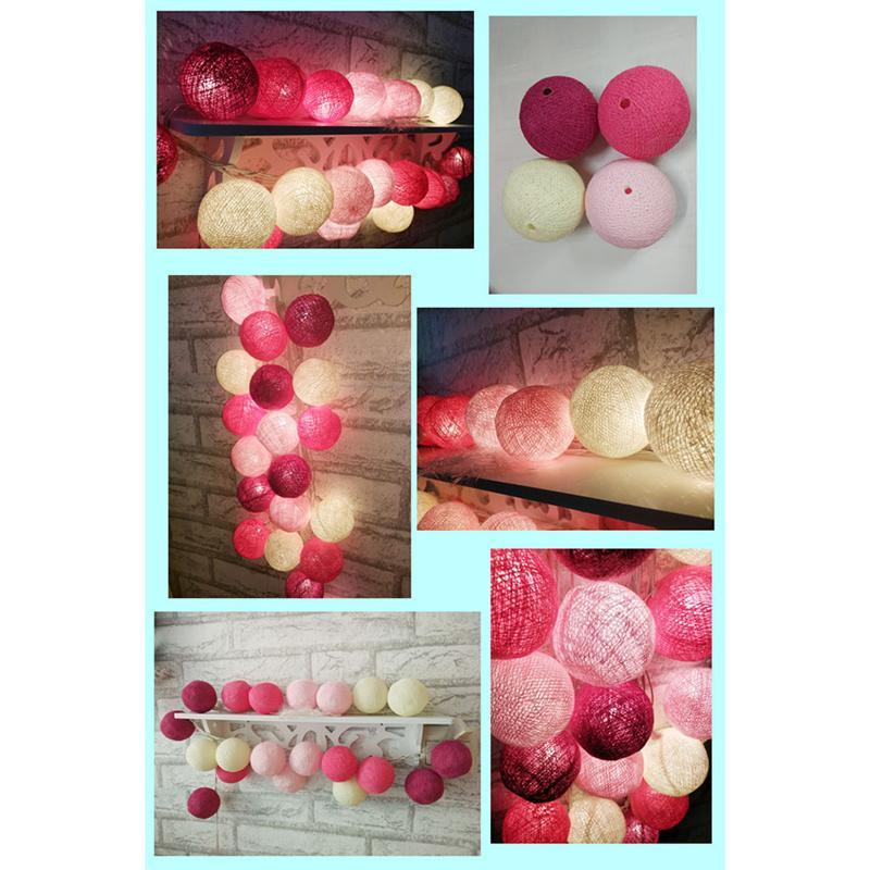 20LED String Christmas Lights Cotton Ball String Lights Fairy Lights/Wedding Party Led Night Light Xmas Decor With US Plug