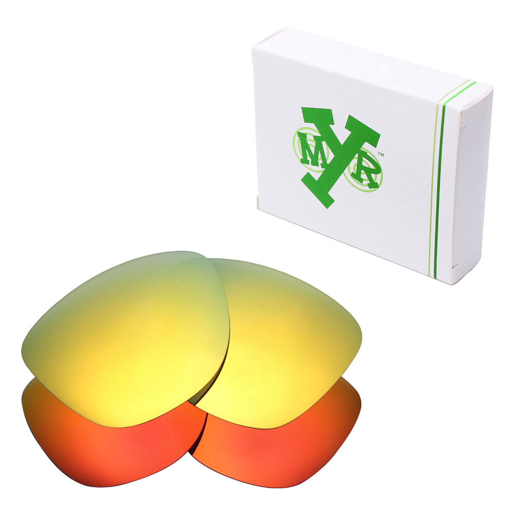 2 Pairs Mryok Anti Scratch POLARIZED Replacement Lenses for Oakley Frogskins Sunglasses 24K Gold Fire Red