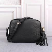 Luxury Brand Real Leather Bags for Women 2018 Fashion Designer Top Quality Shoulder Bag Mini Black Tassel Handbags Bag Free DHL