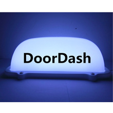 White LED USB charger TAXI Top Light  Roof DoorDash TOP light and UberEats 5V with 3Meter USB charger line and Magnet base цены