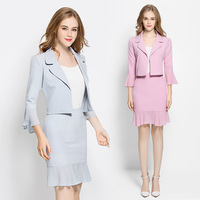 Work Suit For Women Two Piece Set Suit Blazer Professional Office Uniforms For Women Skirt And