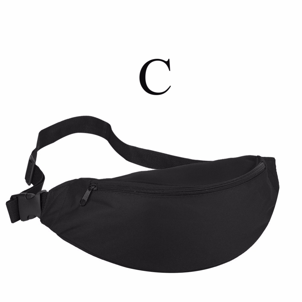 2018 Fanny Pack Women Waist Bag Summer Hip Bag Travel Fashion Bum Bag Hengreda Men Waistbag Belt Zipper Pouch Bags Black