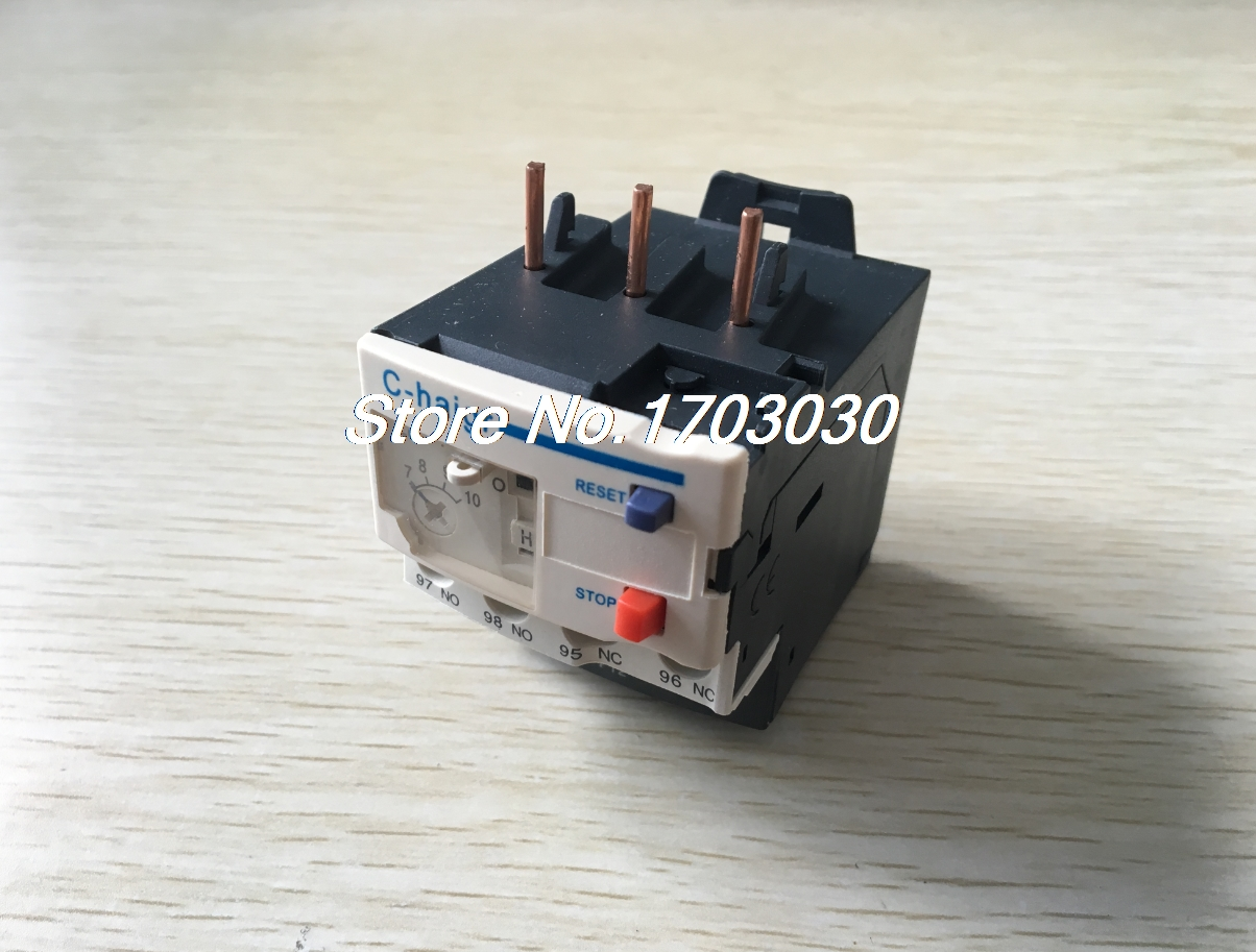 3 Pole AC 7A - 10A Electric Thermal Overload Relay 1 NO 1 NC Cqlzr 2 pin thermal overload protection