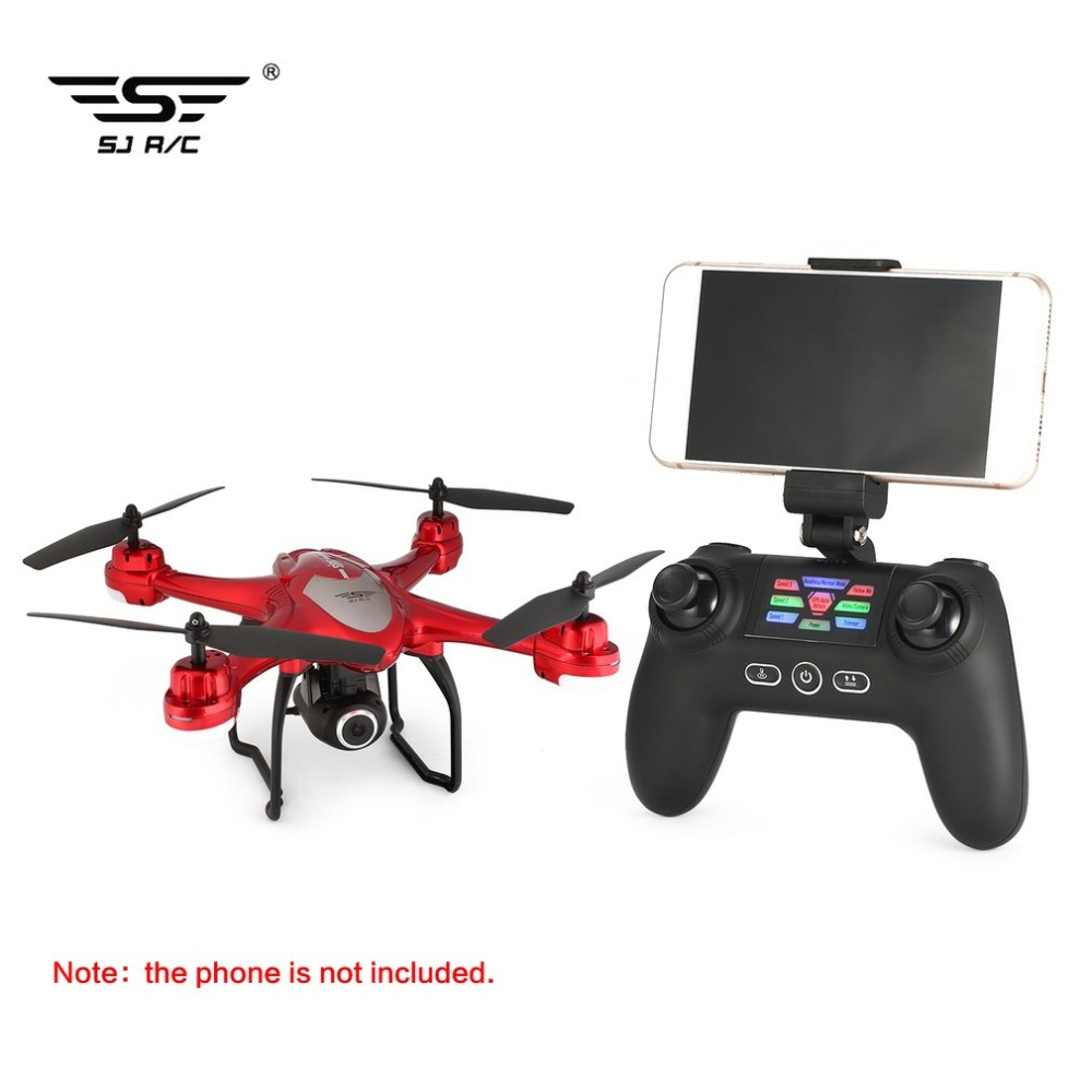 kingjoy SJ R/C S30W 2.4G Dual GPS Positioning FPV RC Quadcopter 1080P Camera