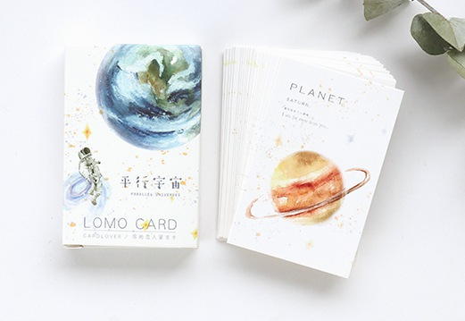 52mm*80mm Beautiful Universe Paper Greeting Card Lomo Card(1pack=28pieces)(China)