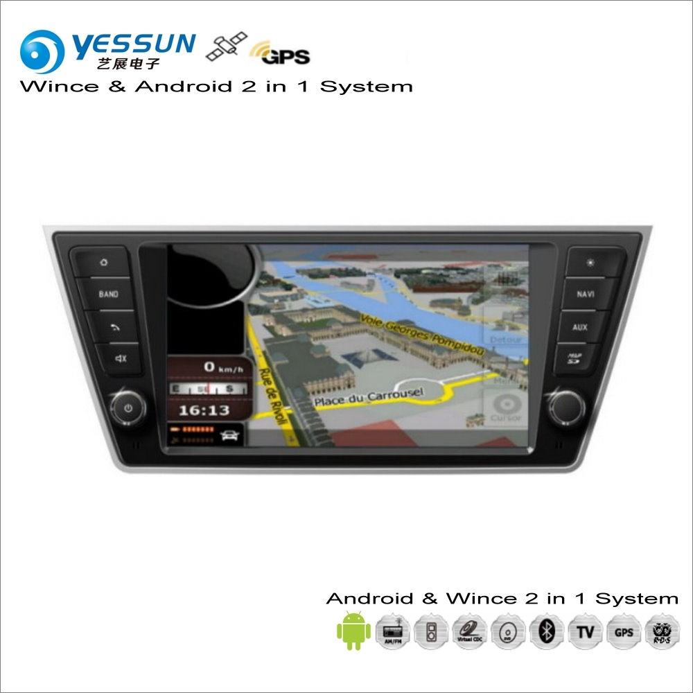 YESSUN For Skoda Fabia MK3 2014~2017 Car Android Multimedia Radio CD DVD Player GPS Navi Navigation Audio Video Stereo System yessun for mazda cx 5 2017 2018 android car navigation gps hd touch screen audio video radio stereo multimedia player no cd dvd