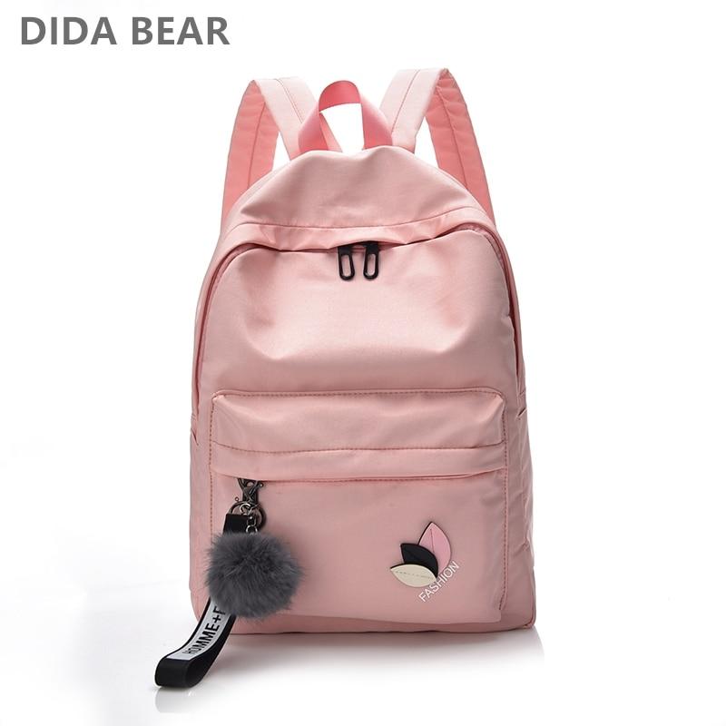DIDABEAR Women Waterproof Nylon Backpacks Female Rucksack School Backpack For Girls Fashion Travel Bag Bolsas Mochilas Sac A Dos