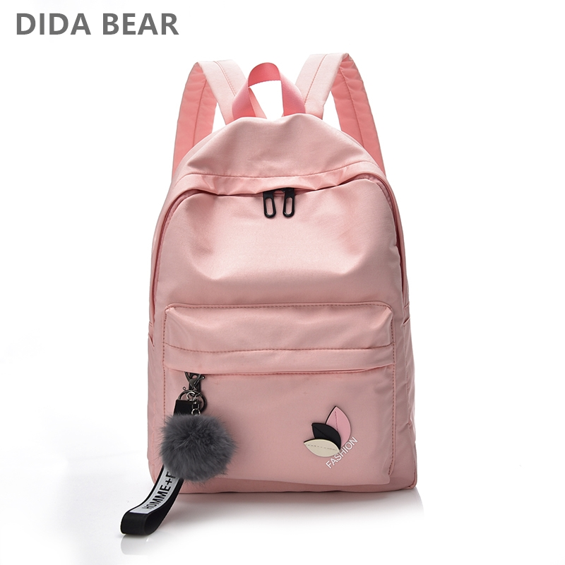 DIDABEAR Women Waterproof Nylon Backpacks Female Rucksack School Backpack For Girls Fash ...