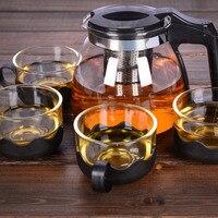 Heat resistant Glass Teapot Set Stainless Steel Fliter Tea Kettle Tea Set WXV Sale