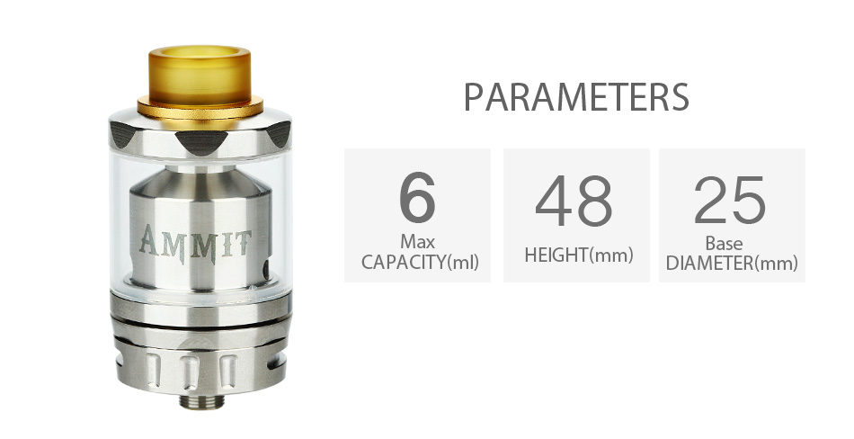 eekVape Ammit RTA Dual Coil Version - 3ml 2