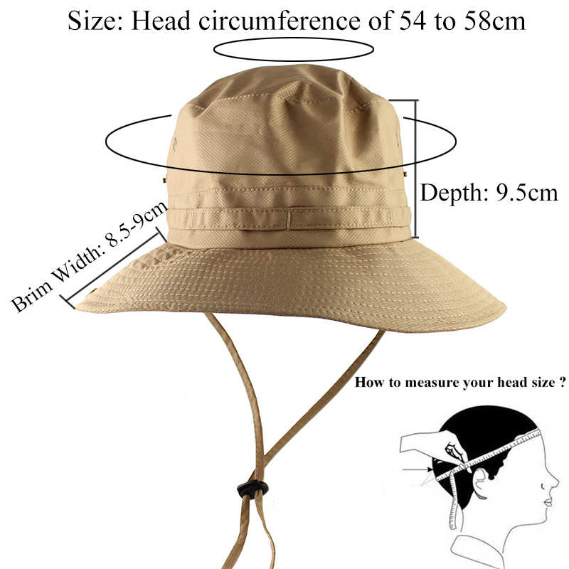 6c2c4ce87c3c5e ... UPF50+ Lightweight Sun Hat Women Men Mesh Bucket Hat Summer Fishing  Hiking Cap UV Protection Flap