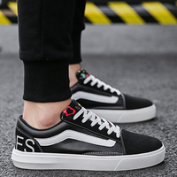 2018 New Korean Version of Leisure Shoes Trend Canvas Shoes Fashion Board Shoes Breathable Daily Young Men's Shoes Size 39 44 5